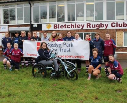 Grace Matthew Bletchley bike chair from Rosslyn Park Injury Trust